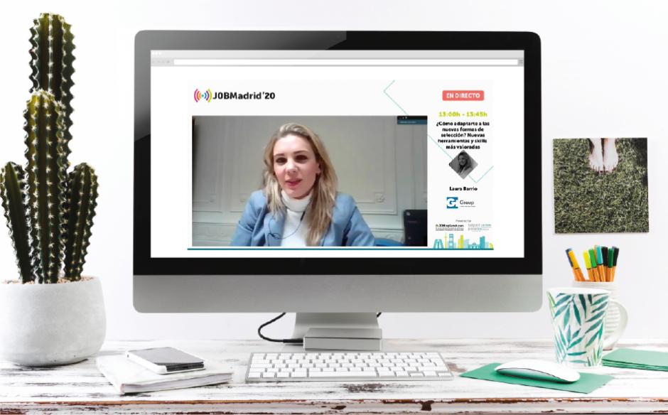 Laura Barrio, Branch Manager de Gi Group, imparte un webinar en la feria JOB Madrid 2020
